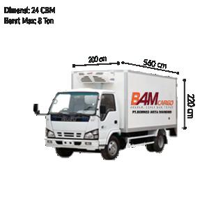 Colt Diesel Double (CDD) Box Reefer BAM CARGO