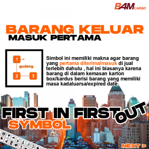 Simbol First In First Out- BAM CARGO